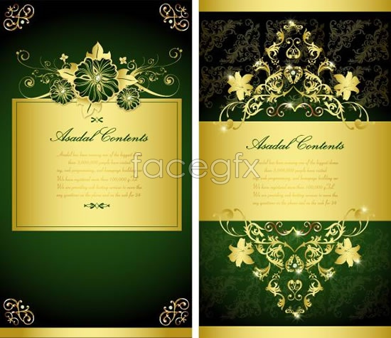 Golden lace background layout Vector