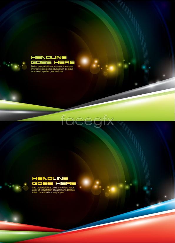 Lens flare stars background Vector