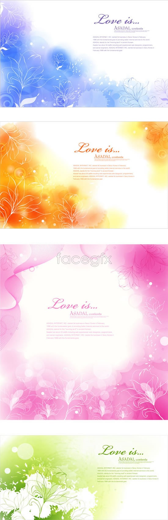 Line drawing of flowers fantasy backgrounds Vector