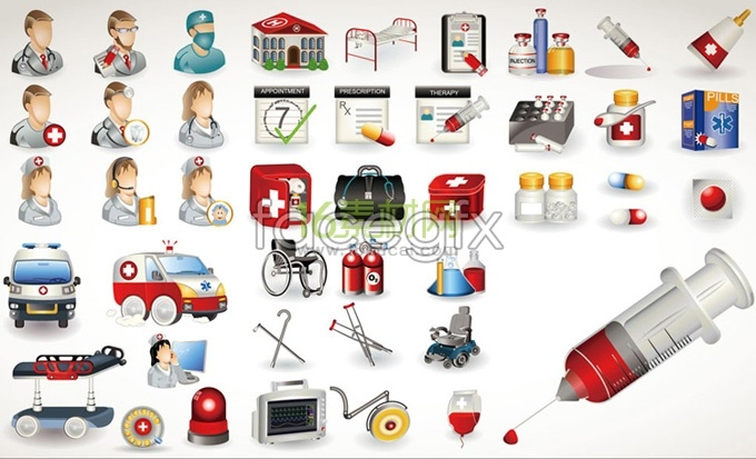 Medical related icon vector