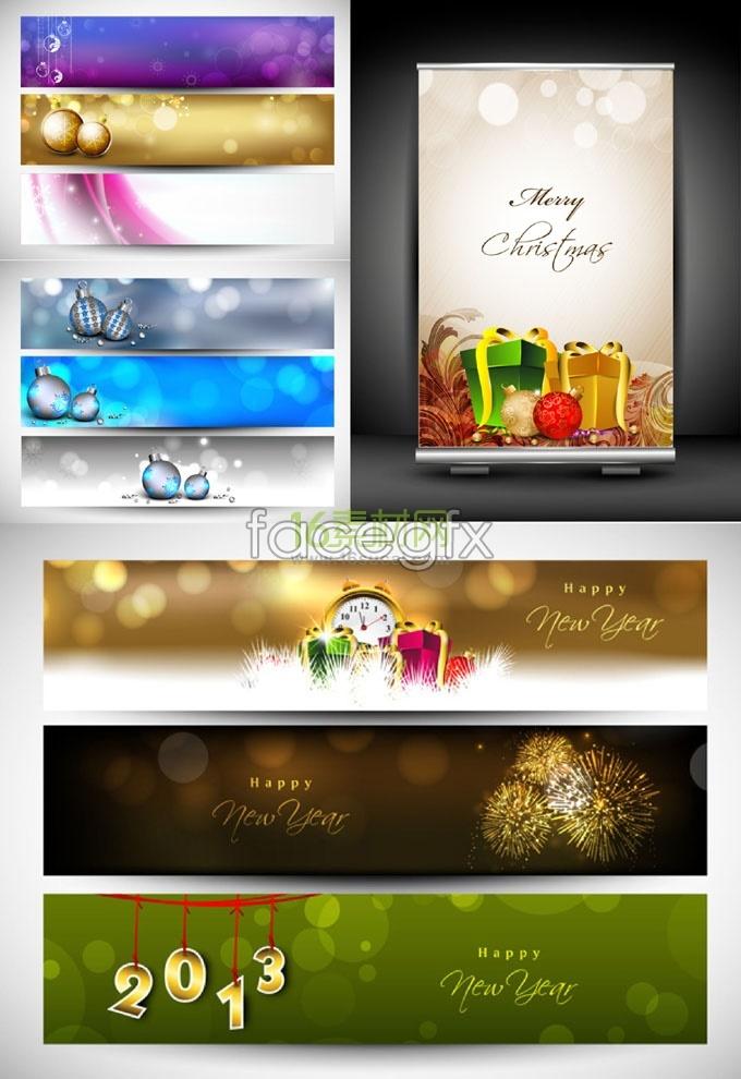 Merry Christmas banner vector design