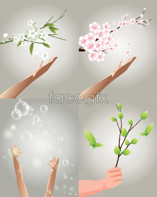 Reach theme vector
