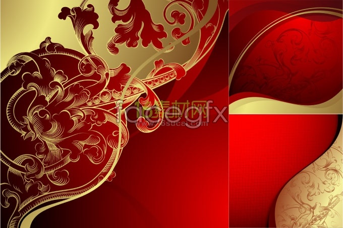 Rich background pattern vector