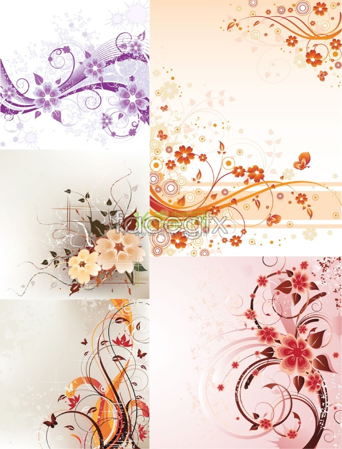 Romantic art background pattern vector