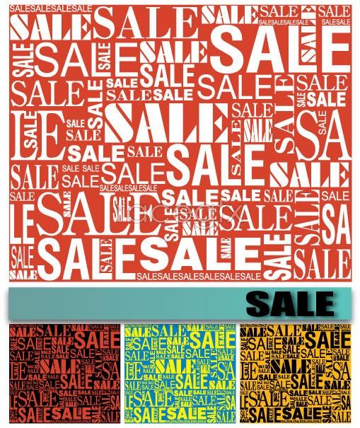 Sale font background Vector