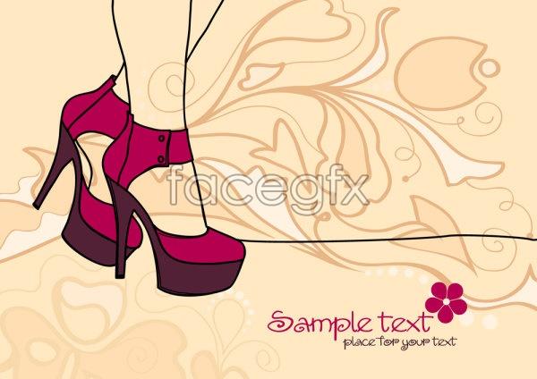 Sexy beauty line illustrations Vector