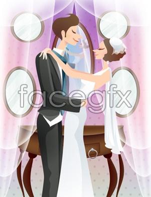 Sweet marriage vector _76