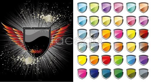 The shield theme vector