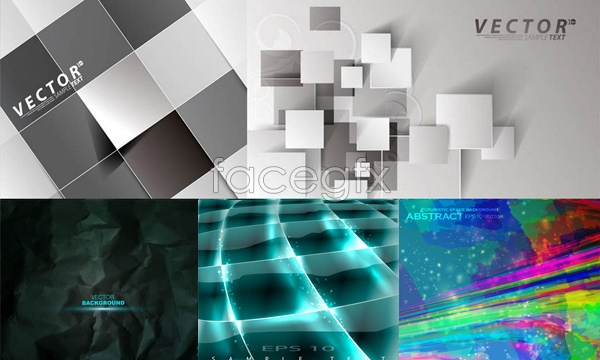 Three dimensional fold backgrounds Vector