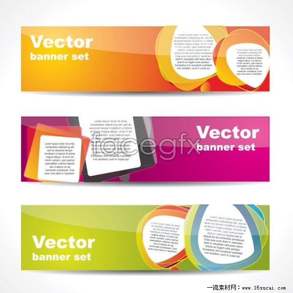 Web boutique banner vector  II