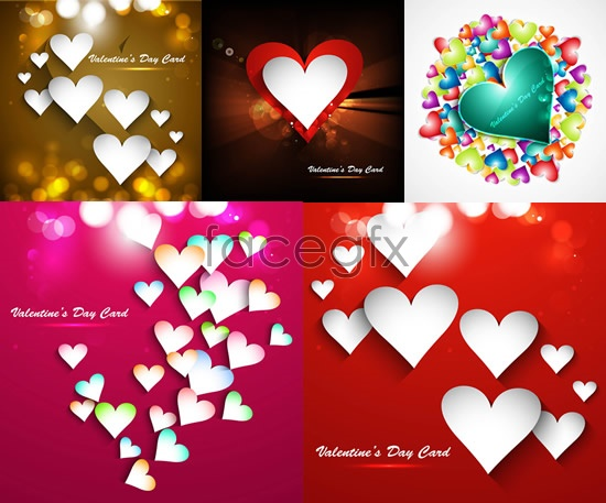 Valentine's day paper cards Vector