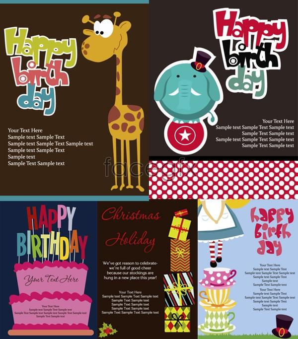 Cartoon holiday card vector
