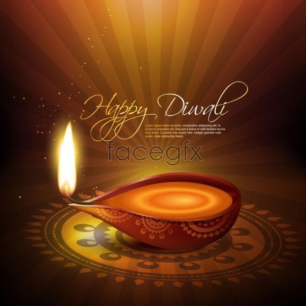 Diwali backgrounds 03 Vector