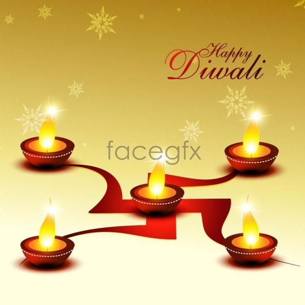 Diwali cards 01 Vector
