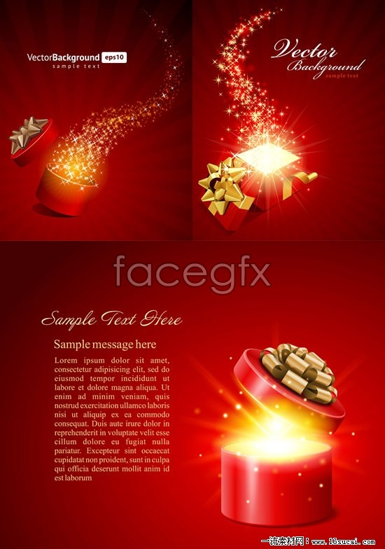 3 open the gift box vector