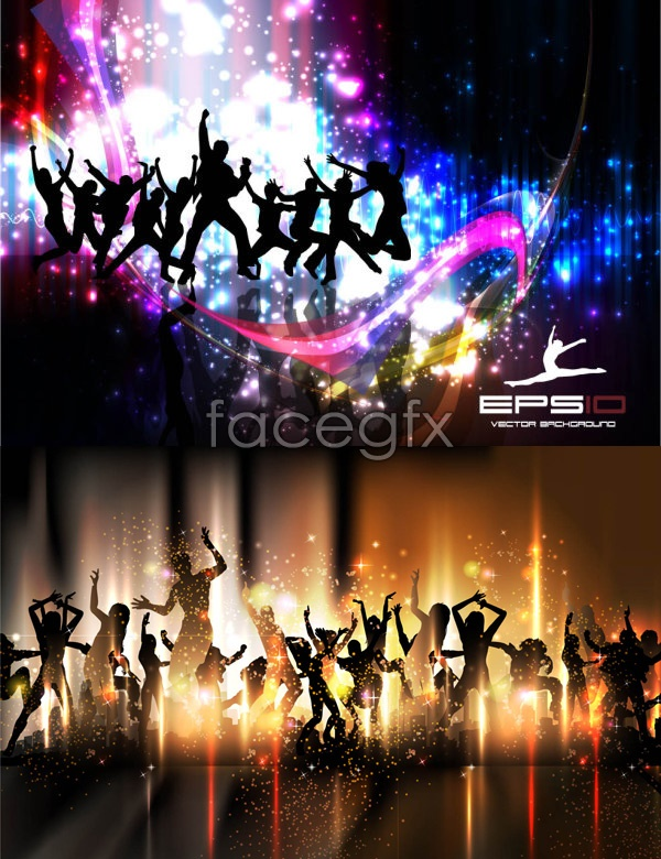 Background bright dance Vector