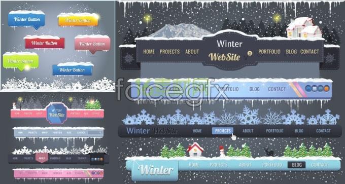 Beautiful Christmas navigation buttons