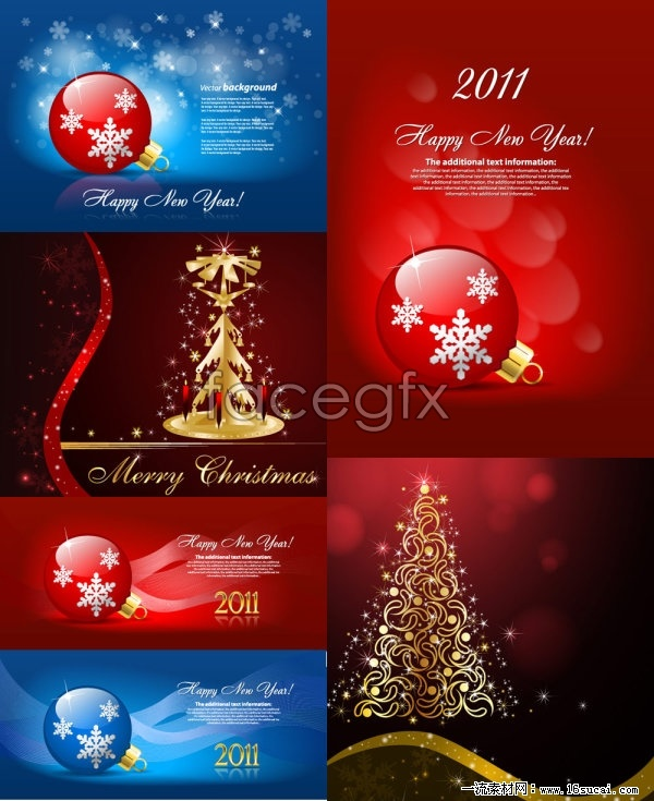 Beautiful Christmas ornament background vector