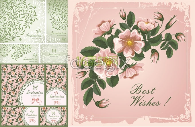 Beautiful floral pattern 01-vector background