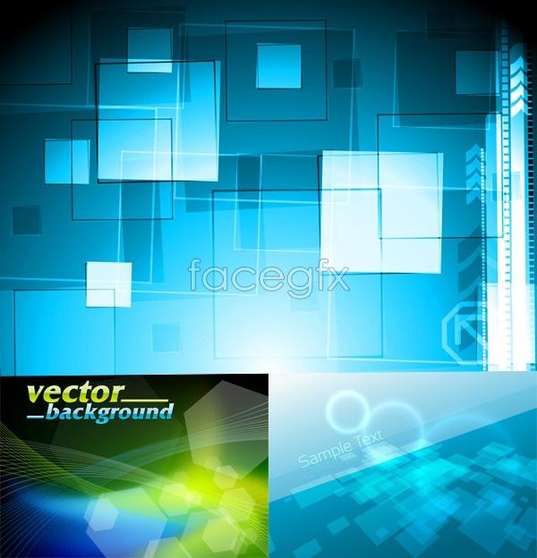 Blue tech vector