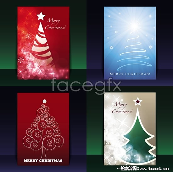 Book cover design 4 Christmas vector graphics