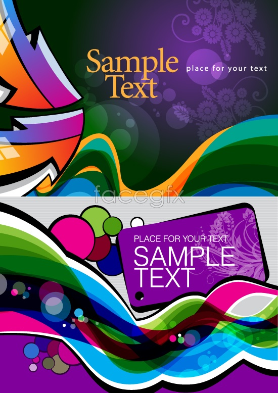 Bright color fluctuations in the background Vector