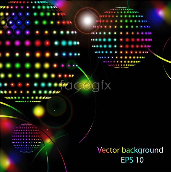 Bright neon light Vector