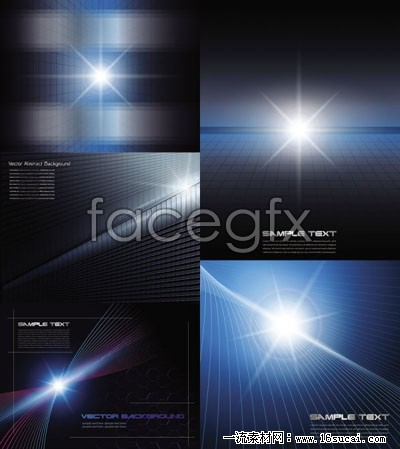 Brilliant high light and dynamic background vector