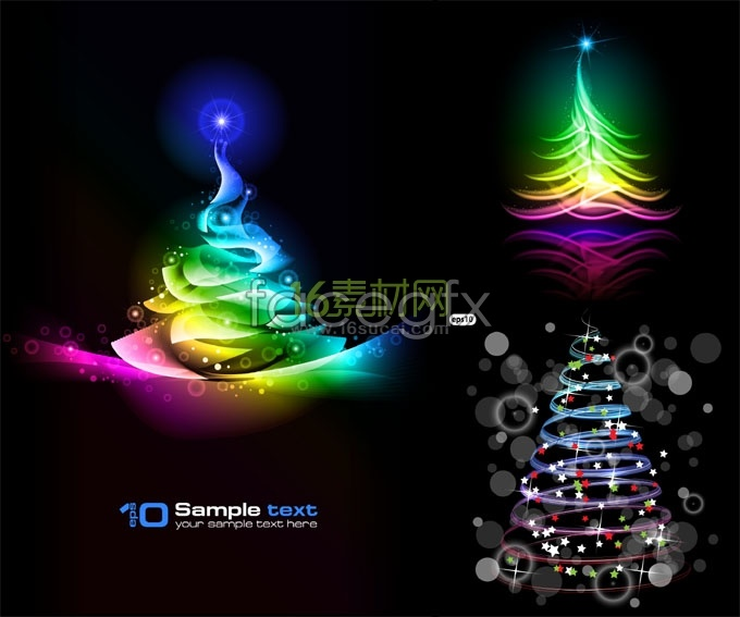 Colorful Christmas tree background