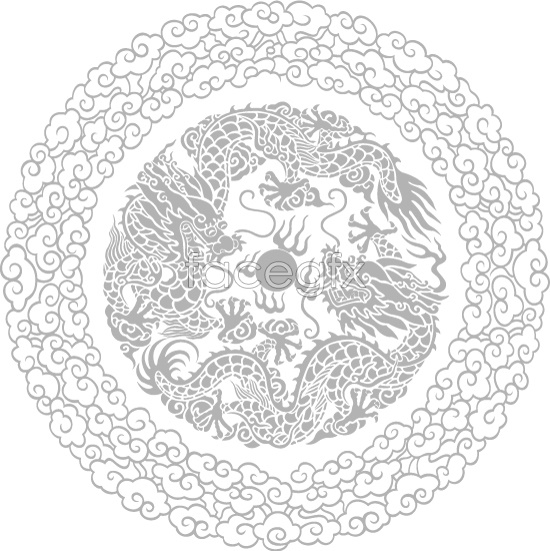 Double Dragon play bead pattern Vector