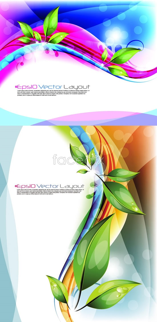 Drop curve beam background Vector