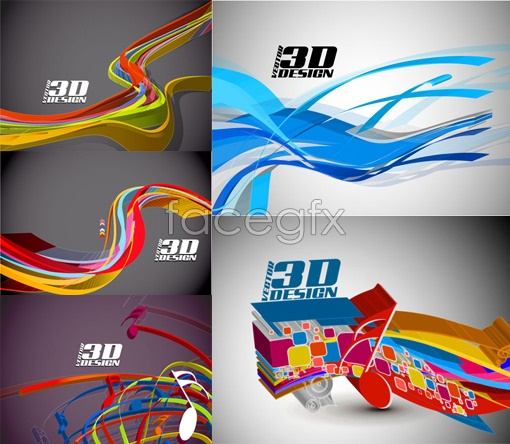 Dynamic 3D elements Vector