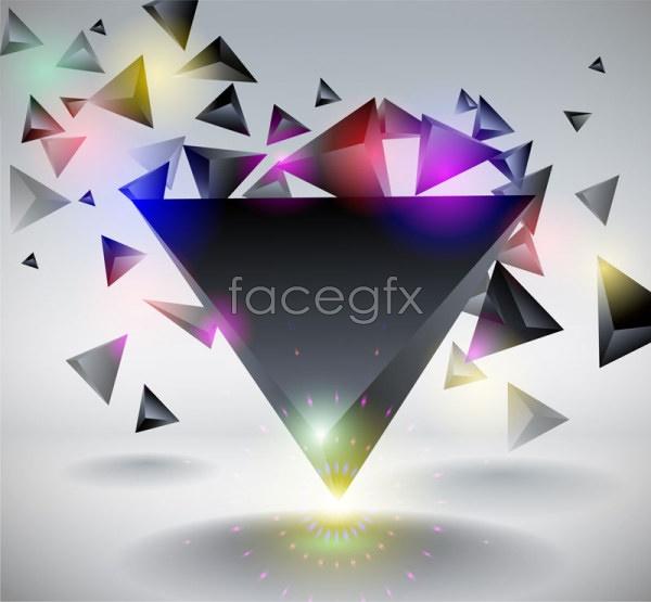 Dynamic diamond triangle Vector