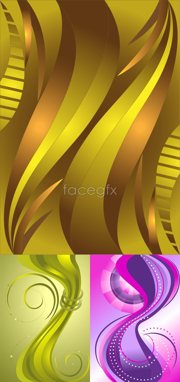 Dynamic wave background Vector