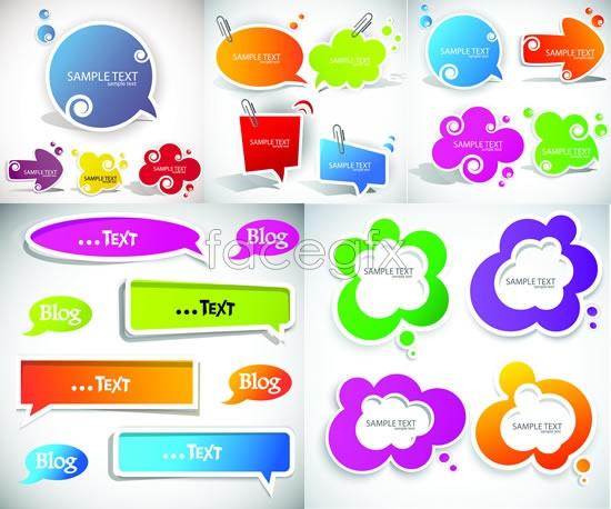 Exquisite language box sticker Vector