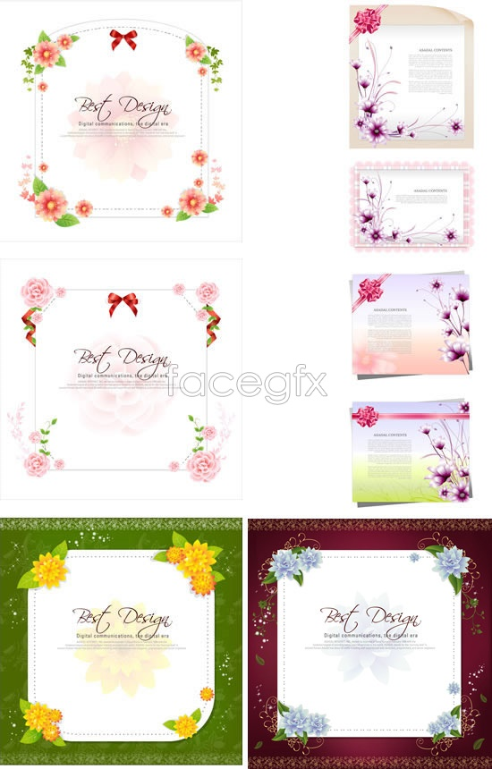 Fashion stationery borders Vector