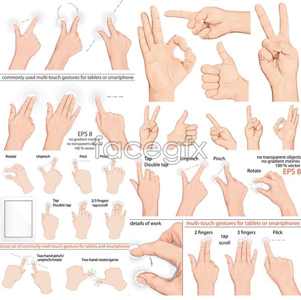 Finger gesture vectors