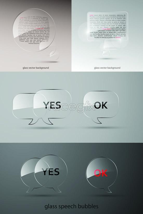 Glass dialog box Vector