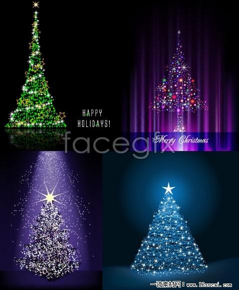 Glitter Christmas vector
