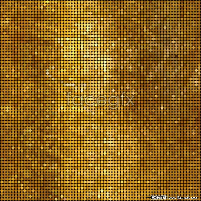 Gold mosaic backgrounds vector II