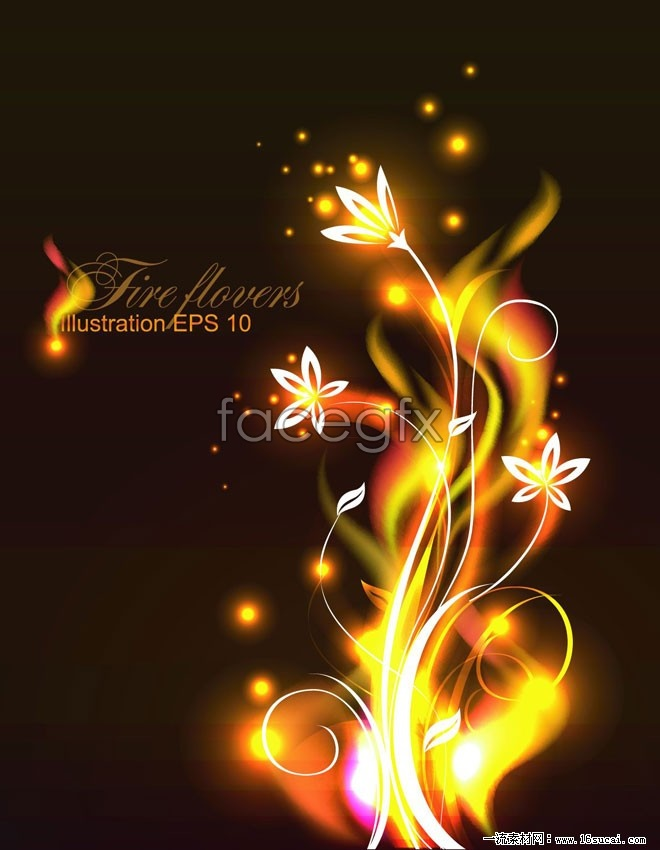 Gorgeous glow pattern vector background  II