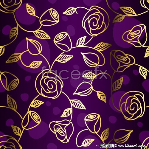 Gorgeous purple cloth pattern vector background  3