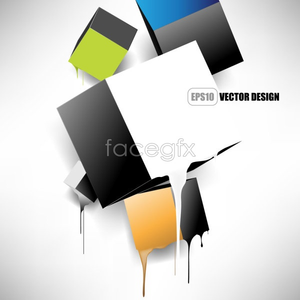 Gorgeous trend background 03 Vector