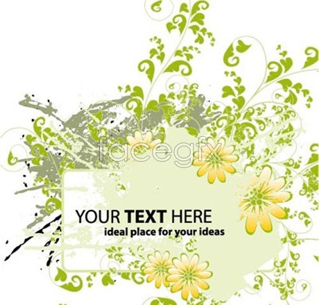 Green Flower Bulletin Board Vector