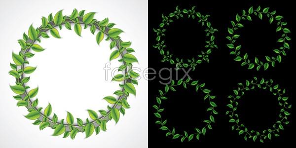 Greenery wreath vector
