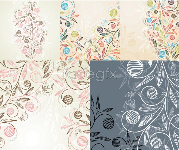 Hand-painted style pattern Vector