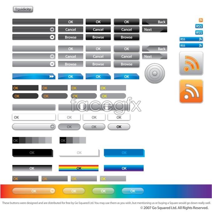 Korea Web button vector graphic