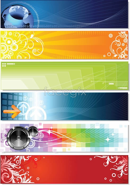 Lines and dynamic BANNER Vector