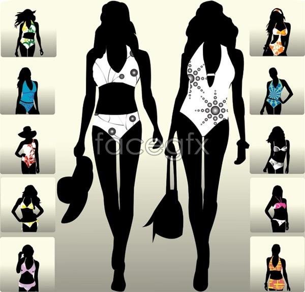 Models catwalk sketches Vector
