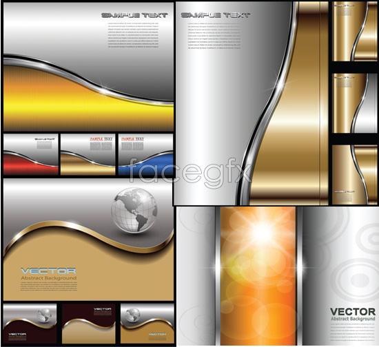 On-site business backgrounds Vector